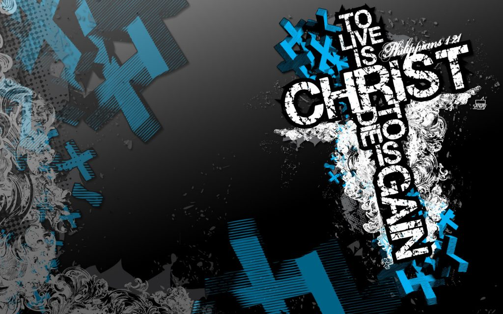 Philippians 1:21 – To Live is Christ christian wallpaper free download. Use on PC, Mac, Android, iPhone or any device you like.