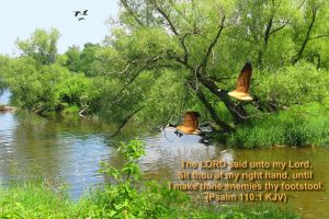 Psalm 110:1 – The Lord's Hand Wallpaper
