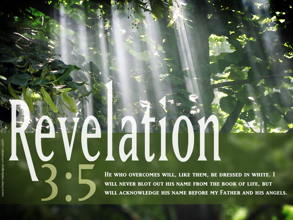 Revelation 3:5 – White for Victorious christian wallpaper free download. Use on PC, Mac, Android, iPhone or any device you like.