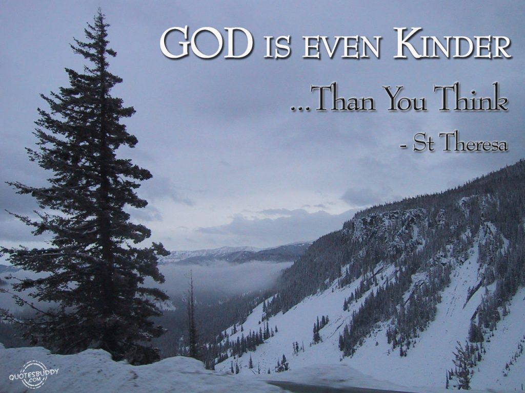 Christian Quote: St. Theresa christian wallpaper free download. Use on PC, Mac, Android, iPhone or any device you like.