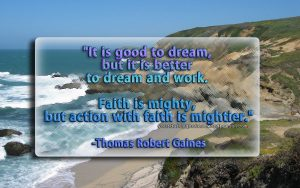 Thomas Robert Gaines – Faith and Action Wallpaper