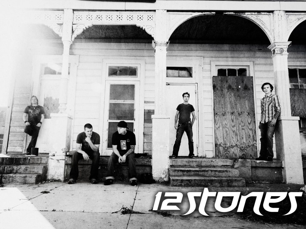 Christian Band: 12 Stones Black and White christian wallpaper free download. Use on PC, Mac, Android, iPhone or any device you like.