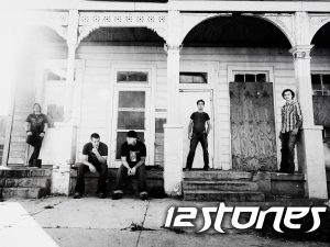 Christian Band: 12 Stones Black and White Wallpaper
