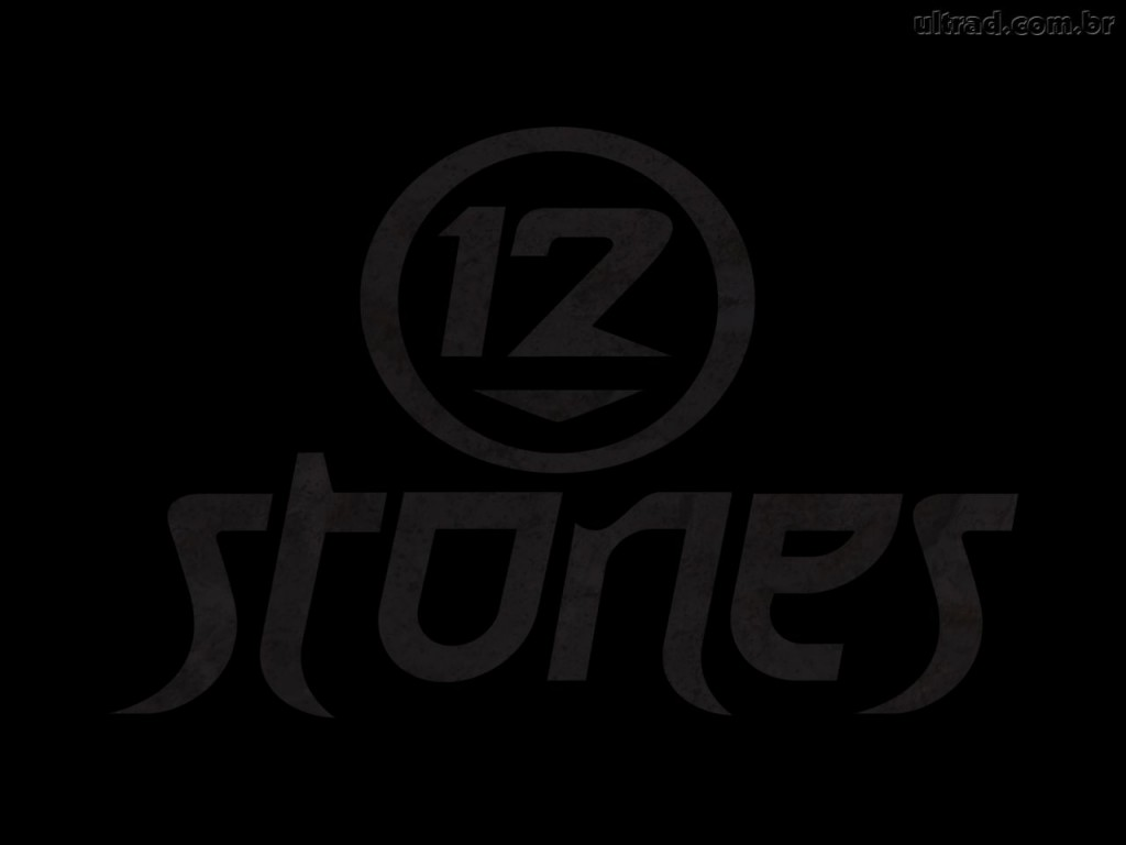 Christian Band: 12 Stones Black Logo christian wallpaper free download. Use on PC, Mac, Android, iPhone or any device you like.