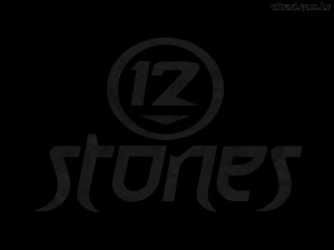 Christian Band: 12 Stones Black Logo Wallpaper