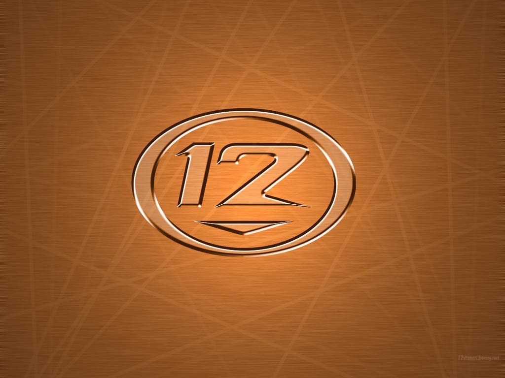 Christian Band: 12 Stone Logo in Brown christian wallpaper free download. Use on PC, Mac, Android, iPhone or any device you like.