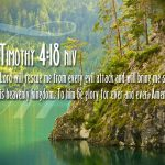 2 Timothy 4:18 – The Lord Will Rescue Me Wallpaper Christian Background
