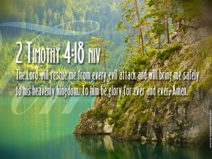 2 Timothy 4:18 – The Lord Will Rescue Me Wallpaper