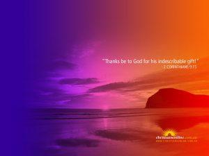 2 Corinthians 9:15 – Indescribable Gift Wallpaper