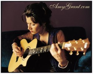 Christian Singer: Amy Grant Playing The Guitar Wallpaper