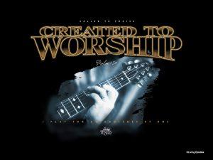 Christian Graphic: Worship Wallpaper