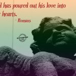 Christian Quote: Love Into Our Hearts Wallpaper Christian Background