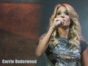 Christian Singer: Carrie Underwood On Concert Wallpaper