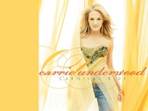 Christian Singer: Carrie Underwood On Curtains Wallpaper