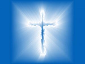 Christian Graphic: Blue Cross Wallpaper