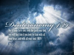 Deuteronomy 4:29 – Seeking the Lord Wallpaper