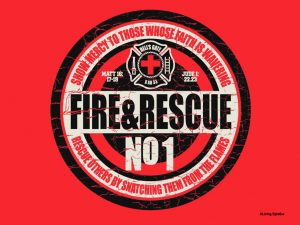 Christian Graphic: Fire And Rescue Wallpaper