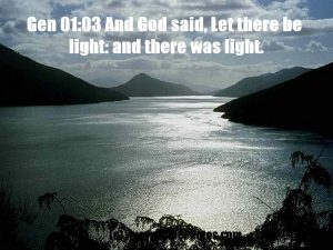 Genesis 1:3 – There Was Light Wallpaper