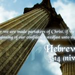 Hebrews 3:14 – Original Conviction Wallpaper Christian Background