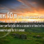 Hebrews 9:15 – Eternal Inheritance Wallpaper Christian Background