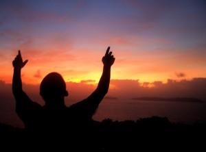 Christian Photography: Holy Prayer On Sunset Wallpaper