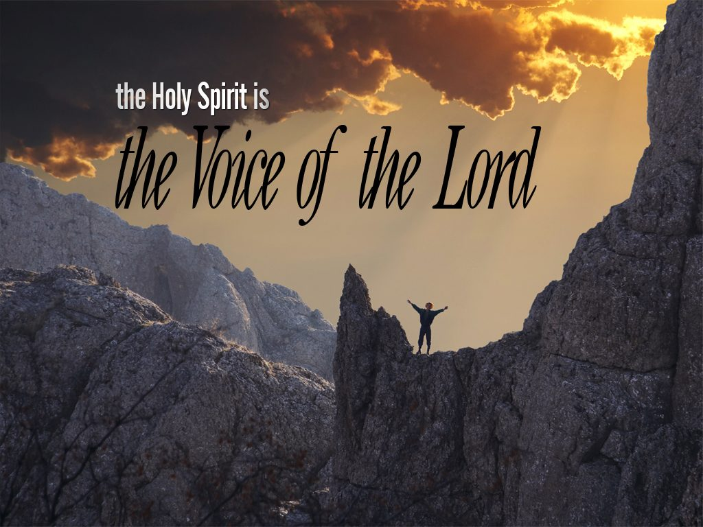 Christian Graphic: Voice Holy Spirit christian wallpaper free download. Use on PC, Mac, Android, iPhone or any device you like.