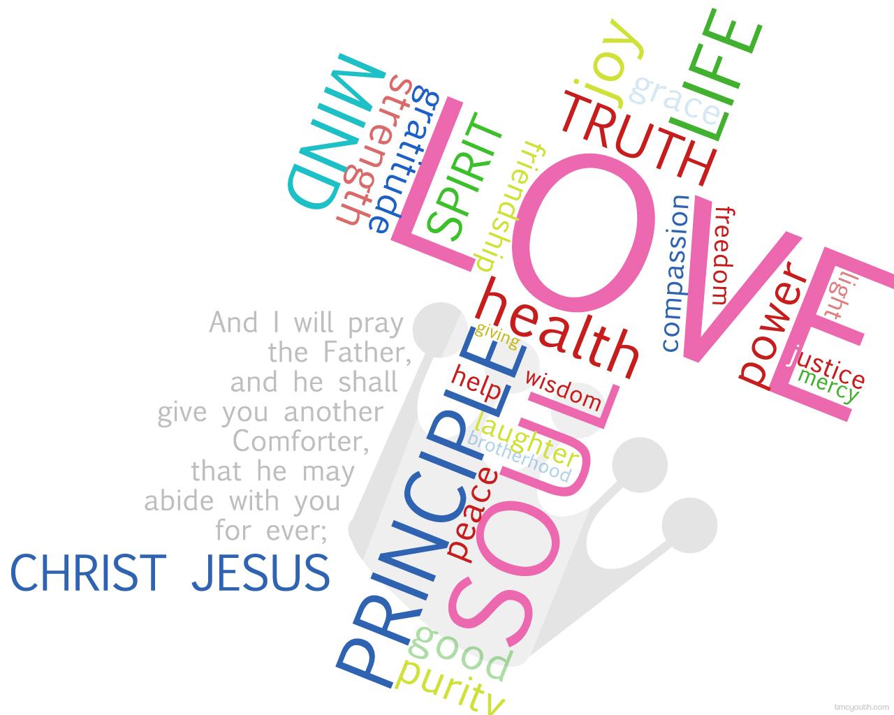 Christian Quote: Christ Jesus Papel de Parede Imagem