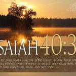 Isaiah 40:31 – Wait Upon The LORD Wallpaper Christian Background