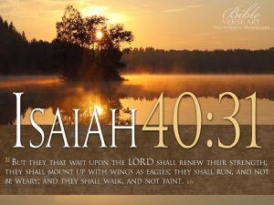 Isaiah 40:31 – Wait Upon The LORD Wallpaper