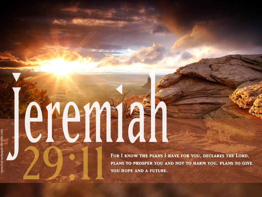 Jeremiah 29:11 – God's Plans christian wallpaper free download. Use on PC, Mac, Android, iPhone or any device you like.