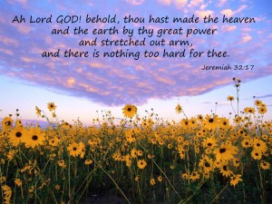 Jeremiah 32:17 – Lord God Creator Of Everything Wallpaper