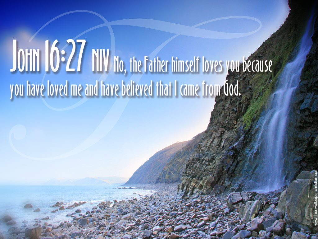 John 16:27 – The Father Loves You christian wallpaper free download. Use on PC, Mac, Android, iPhone or any device you like.