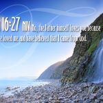 John 16:27 – The Father Loves You Wallpaper Christian Background