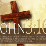 John 3:16 – God's Love Wallpaper Christian Background