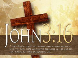John 3:16 – God's Love Wallpaper
