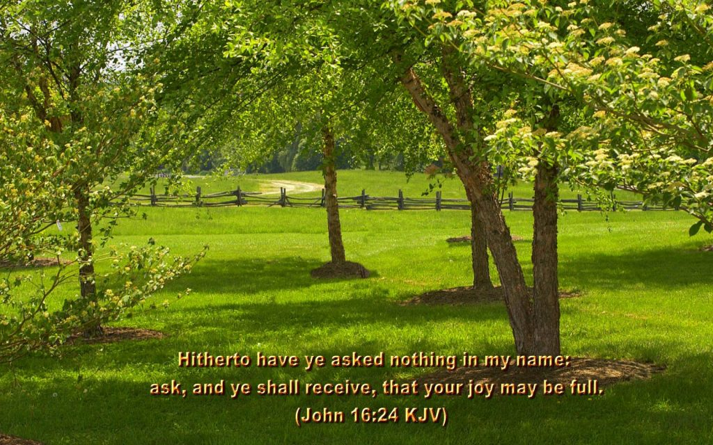 John 16:24 – Ask And You Will Receive christian wallpaper free download. Use on PC, Mac, Android, iPhone or any device you like.