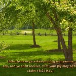 John 16:24 – Ask And You Will Receive Wallpaper Christian Background