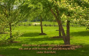 John 16:24 – Ask And You Will Receive Wallpaper