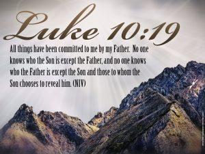 Luke 10:19 – Nothing Will harm You Wallpaper