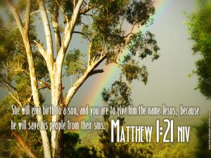Matthew 1:21 – Jesus Our Savior Wallpaper