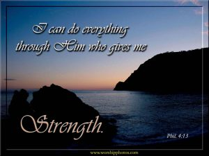 Philippians 4:13 – Strength Wallpaper