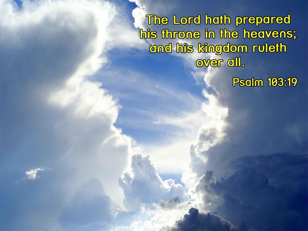 Psalm 103:19 – Throne in Heaven christian wallpaper free download. Use on PC, Mac, Android, iPhone or any device you like.