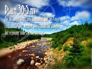 Psalm 30:5 – Morning Rejoices Wallpaper