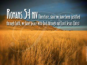 Romans 5:1 – Justified Wallpaper