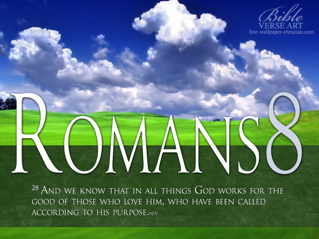 Romans 8:28 – Lord's Purpose christian wallpaper free download. Use on PC, Mac, Android, iPhone or any device you like.