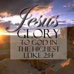 Luke 2:14 – Glory to God Wallpaper Christian Background