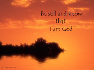 Christian Quote: Be Still Wallpaper