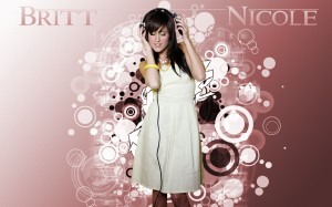Christian Singer: Britt Nicole On Headsets Wallpaper