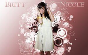 Christian Singer: Britt Nicole On Headsets Wallpaper