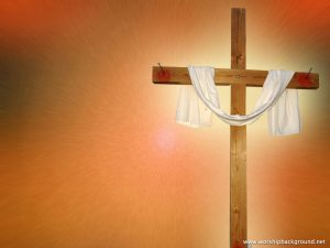 Christian Graphic: Wooden Cross Wallpaper